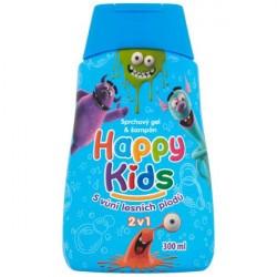 Happy Kids 300 ml Sprchový gel & Šampón Modrý